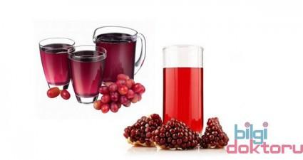 üzüm ile nar suyu