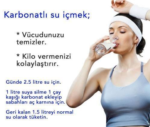 karbonat su kuru zayiflama