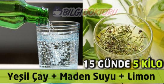 Yeşil Çay, Limon, Maden Suyu İle Zayıflama Kürü